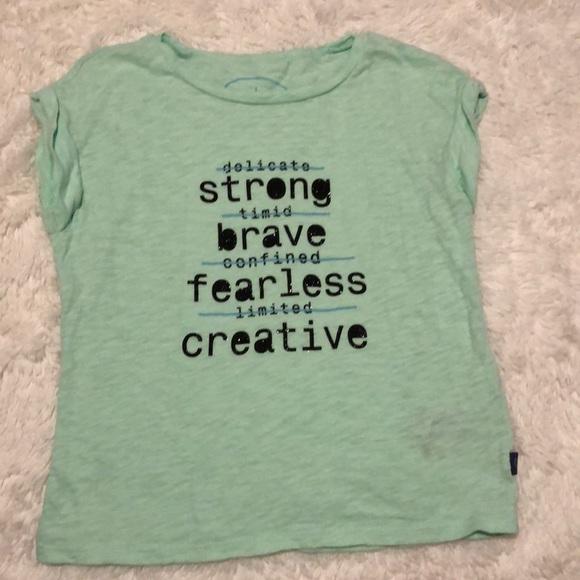 NWT Gymboree Creative Types Owl Girls Blue Long Sleeve Shirt 2T 3T